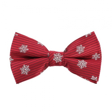 Snowflake Bow Tie Red